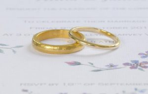 Hand-crafted gold wedding bandsHand-crafted ring by Macdara Ó Graham