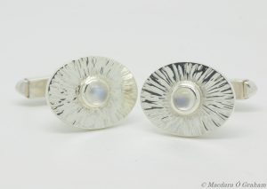 Hand-crafted sterling cufflinks by Macdara Ó Graham