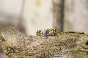 Sapphire Constellation Ring by Macdara Ó Graham