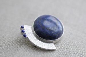 Lapis Lazuli Brooch by Macdara Ó Graham