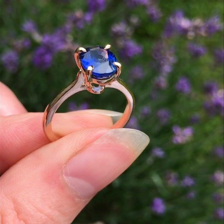 Ring, 1.8ct Sapphire set in 18ct rose gold